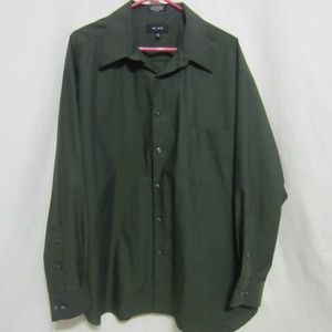 MENS AXCELL 18 (34-35) DRESS OLIVE GREEN SHIRT